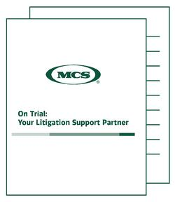 Choosing the Right Litigation Support Provider MCS whitepaper